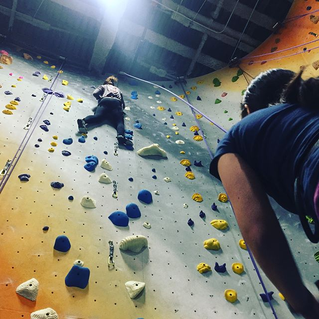 So it may be raining, but it doesn't have to hold me down!! So much fun @thecliffslic . . . #rockclimbing #LIC #sohigh #climbinggym #longarms #raining #nyclife #getonup #queens #fun