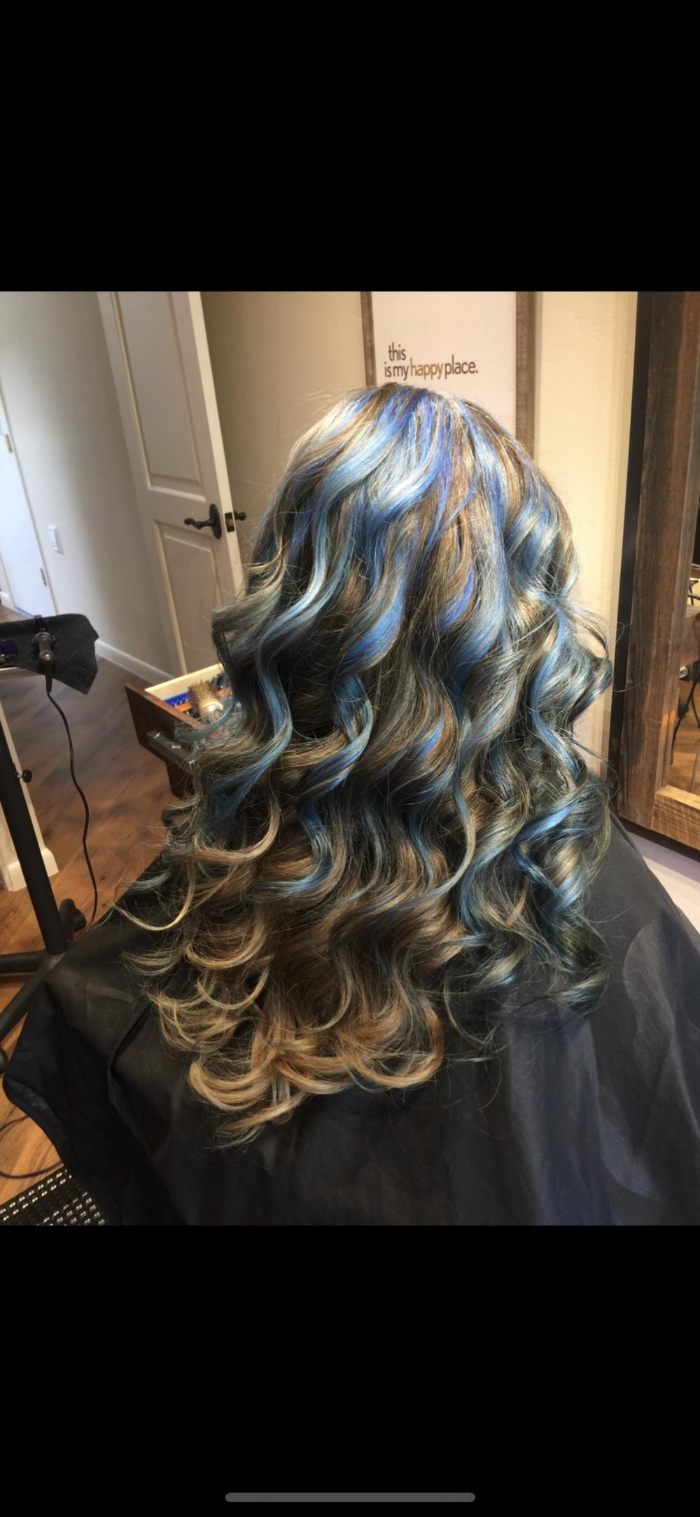 Pop of Blue