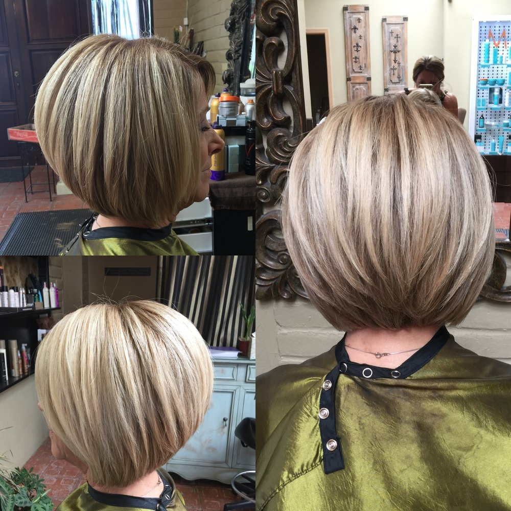 Stacked Blonde Bob