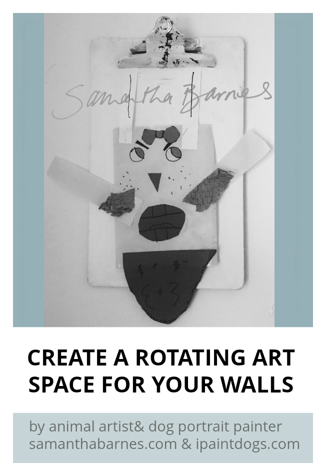 Making a Rotating Art Gallery by Artist Samantha Barnes