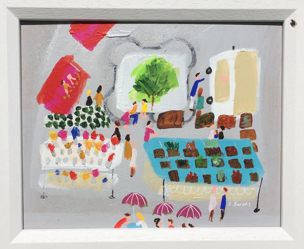 'Woodbridge Market'  Original Painting by Samantha Barnes Artist