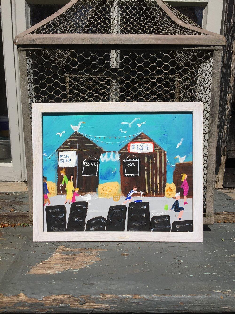 'Fish Huts' Original Painting by Samantha Barnes Artist