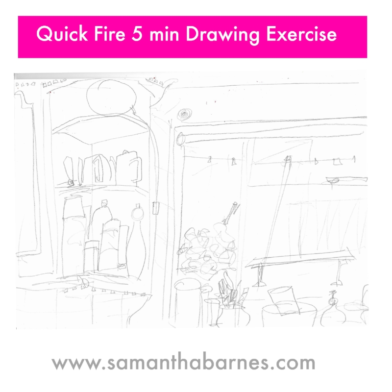 Quick Fire Drawing Exercise by Artist Samantha Barnes