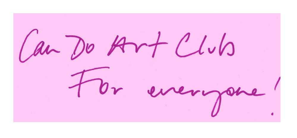 Can Do Art Club - Samantha Barnes Artist