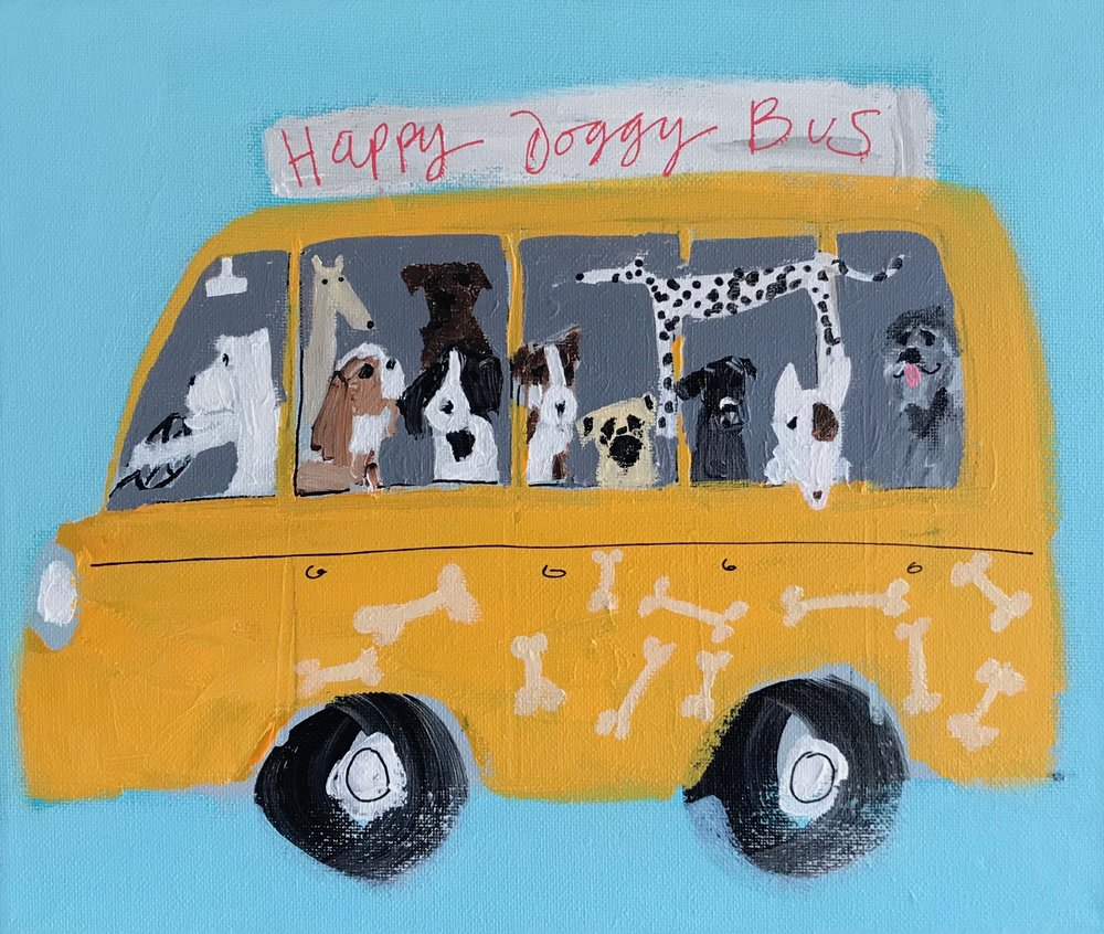 'The Happy Doggy Bus'  Sold & Living in Brighton