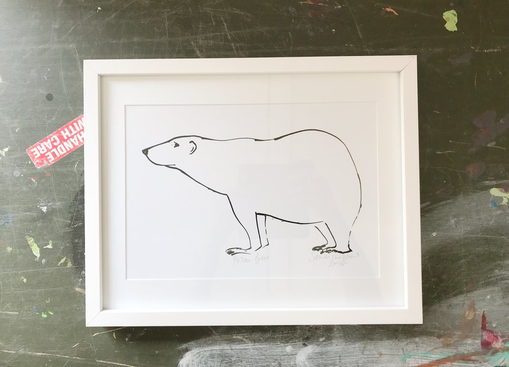 'Polar Bear'  Hand Signed Art Print, now at home in Suffolk.