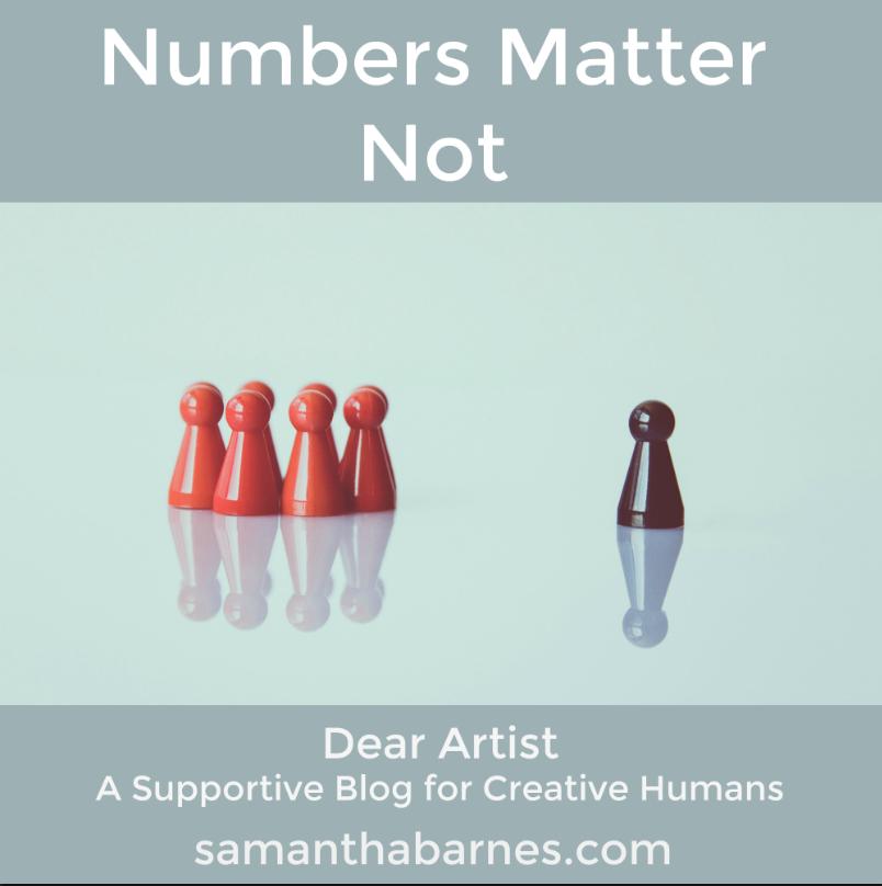 follower numbers don't matter by artist samantha barnes