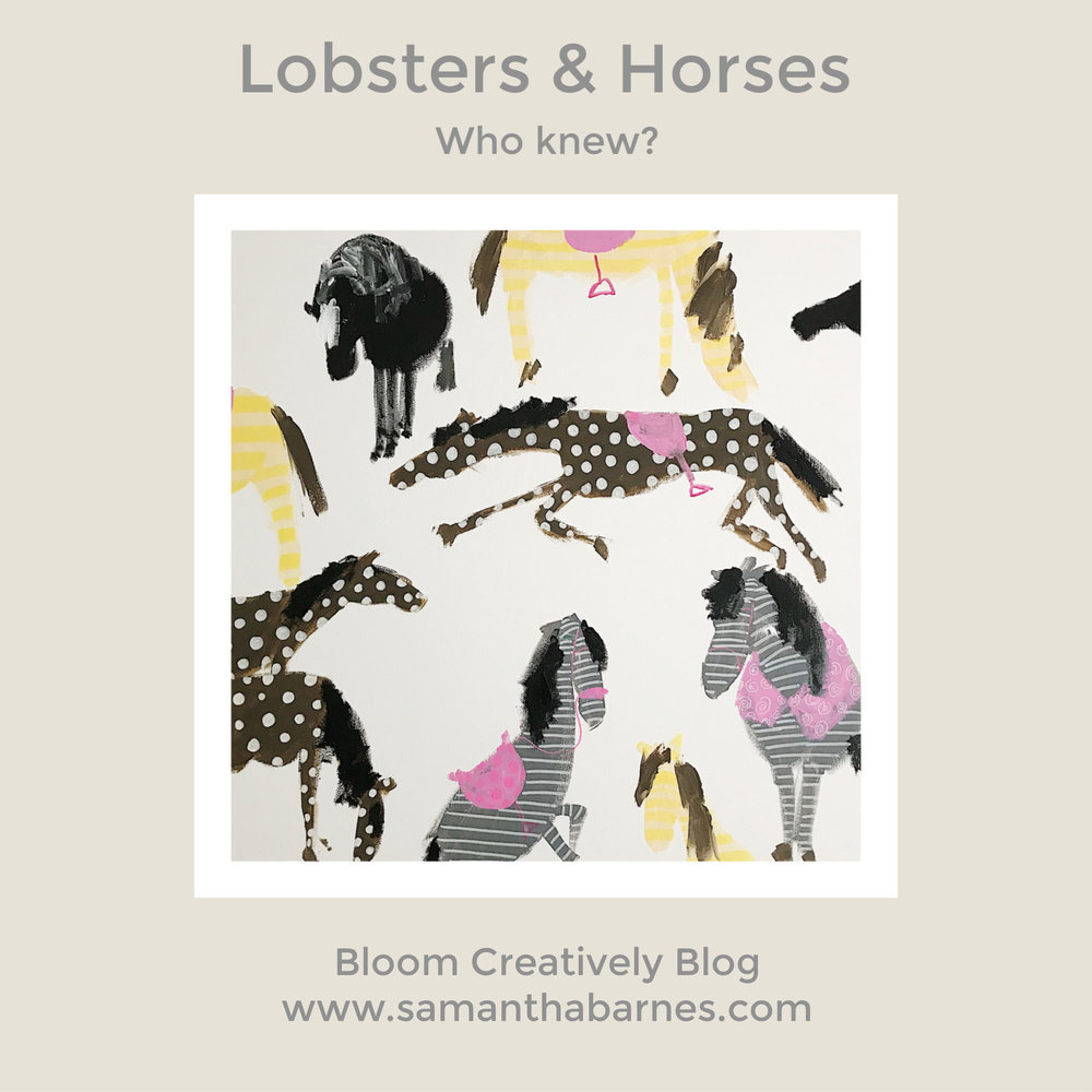 Lobsters & Horses by Samantha Barnes - BloomCreatively Blog