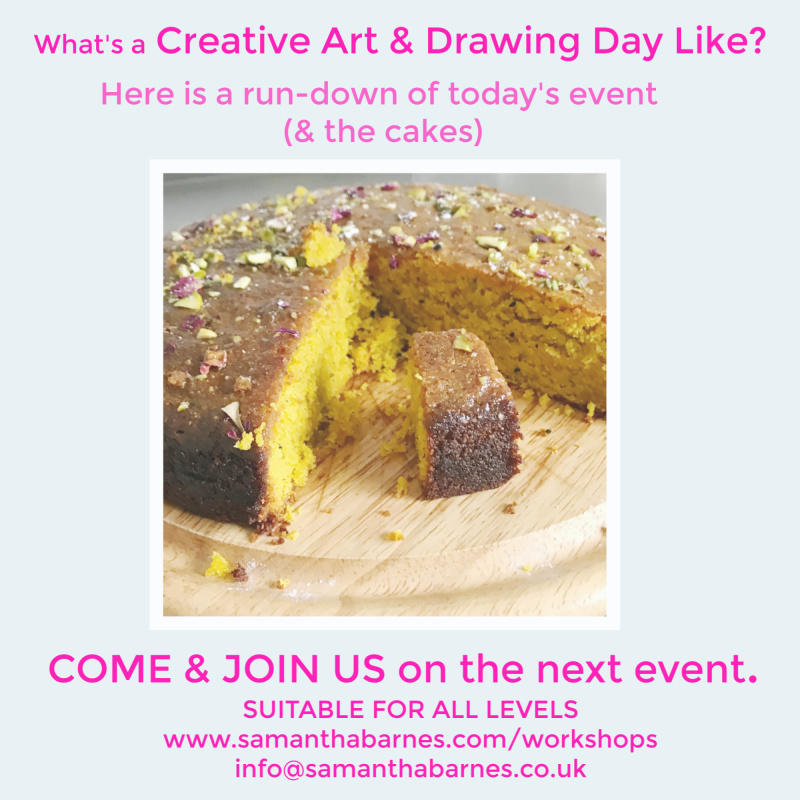 What's a Creative Art & Drawing Day Like?  Here's a short run-down of today's event.  Samantha Barnes Artist, Bloom Creatively Blog