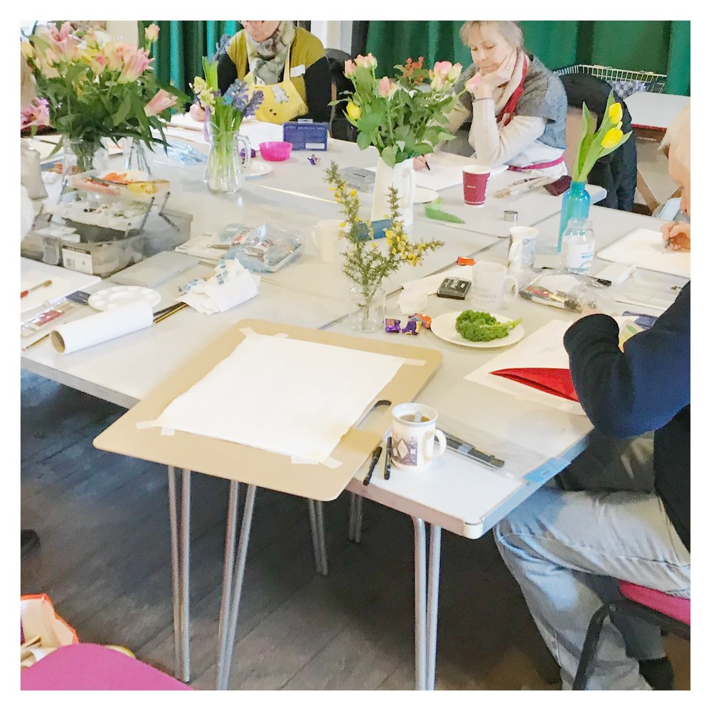 What happens in a Creative Art & Drawing Day?  Samantha Barnes, Bloom Creatively Blog