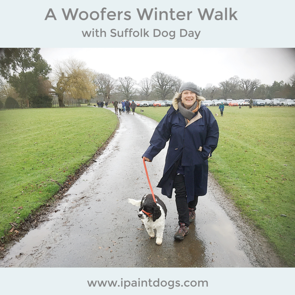 Woofers Winter Walk with Suffolk Dog Day, Samantha Barnes is ipaintdogs.com