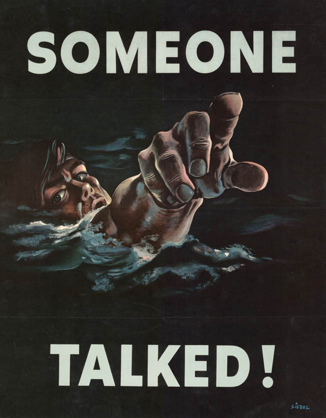 WWII-Propaganda-Posters-Someone-Talked
