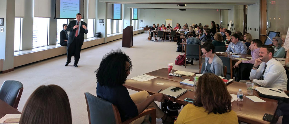 Haywood speaks to a group of community leaders at the Federal Reserve Bank of Richmond.