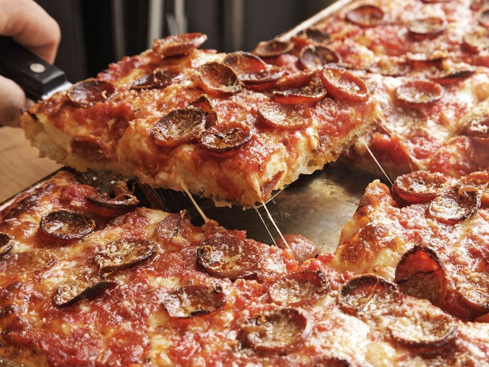 NOW SERVING SICILIAN THICK-CRUST PAN PIZZA - TRY IT TODAY. DELIVERY, DINE-IN, or CARRY OUT.