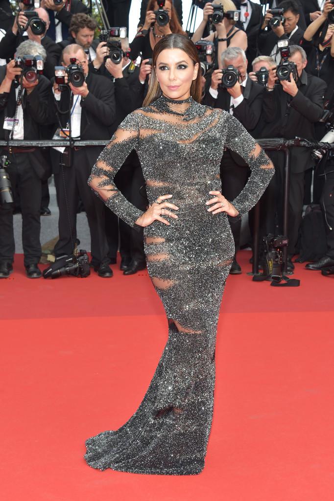 Eva Longoria attends the 70th Anniversary of the 70th annual Cannes Film Festival