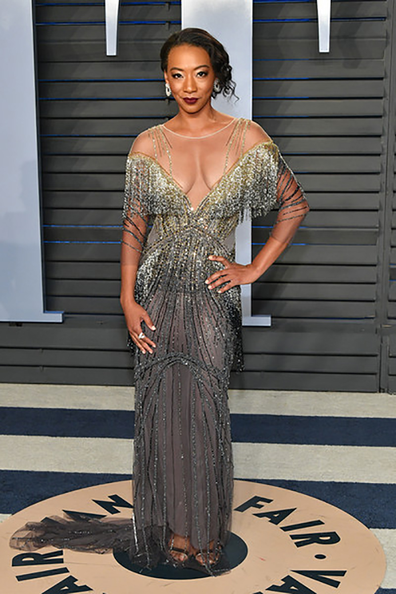 Betty Gabriel at the Oscars Vanity Fair party