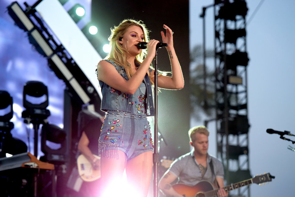 Kelsea Ballerini on stage during her Stagecoach debut