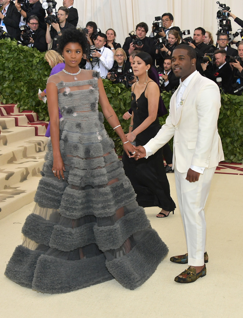 Renell Medrano attends the Met Gala 2018.