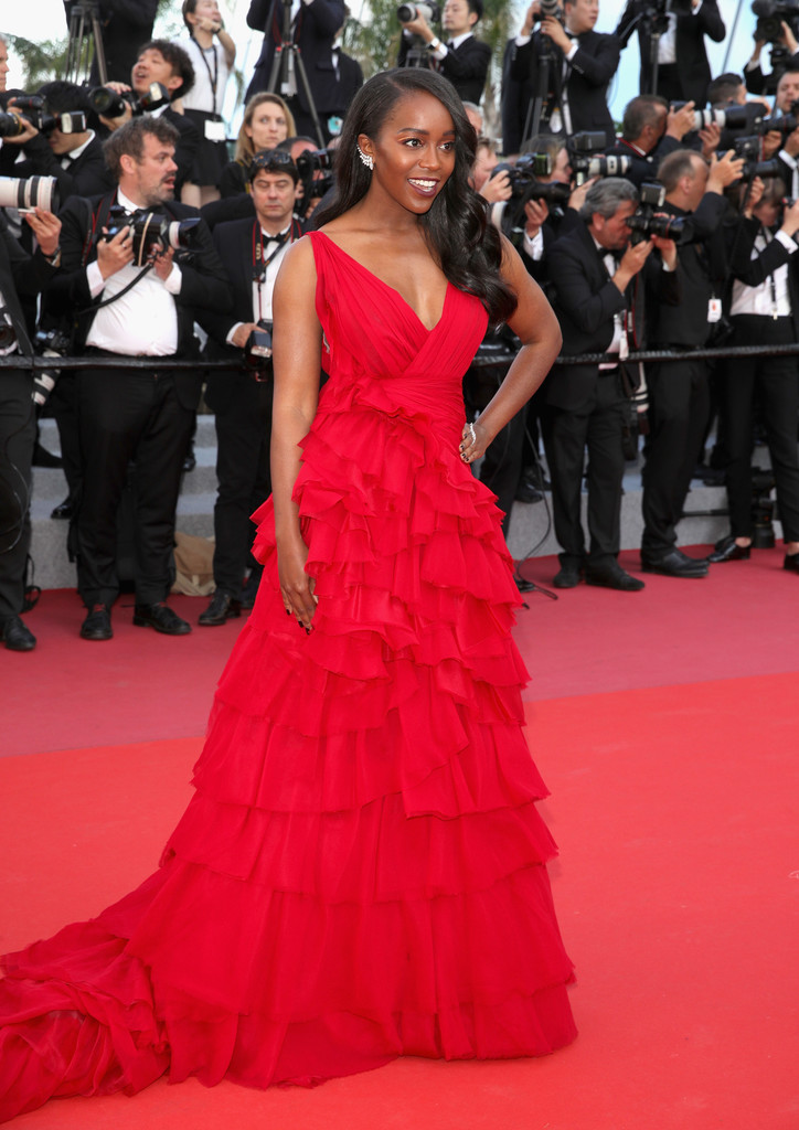 """Actress Aja Naomi King attends the screening of """"Ash Is The Purest White (Jiang Hu Er NV)"""" during the 71st annual Cannes Film Festival."""