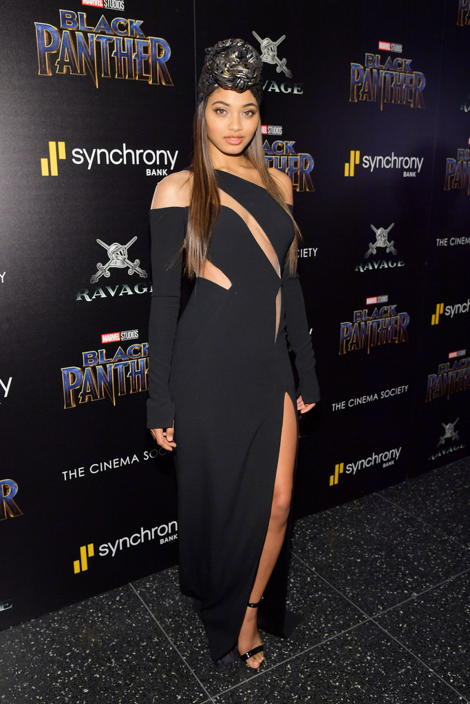 "Danielle Herrington attends the screening of Marvel Studios' ""Black Panther"" hosted by The Cinema Society."