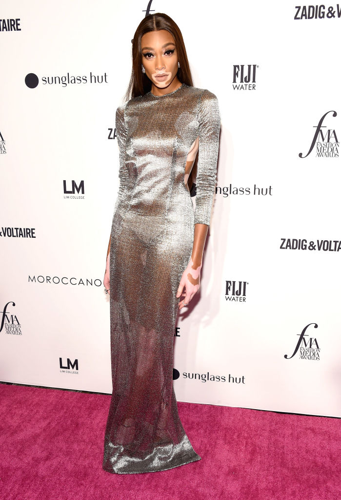 Winnie Harlow attends the Daily Front Row's Fashion Media Awards in New York City.