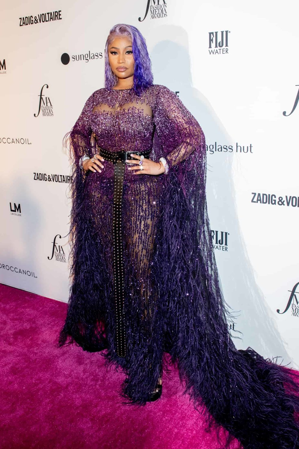 Nicki Minaj attends the Daily Front Row's Fashion Media Awards in New York City.