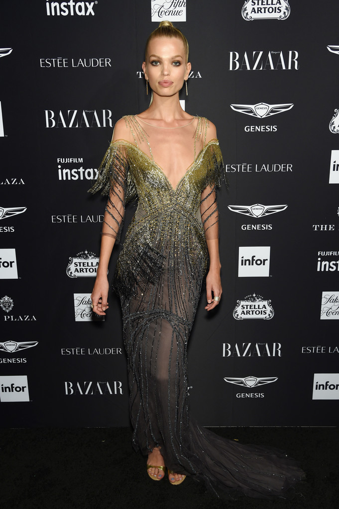 """Daphne Groeneveld attends as Harper's BAZAAR Celebrates """"ICONS By Carine Roitfeld"""" at the Plaza Hotel."""