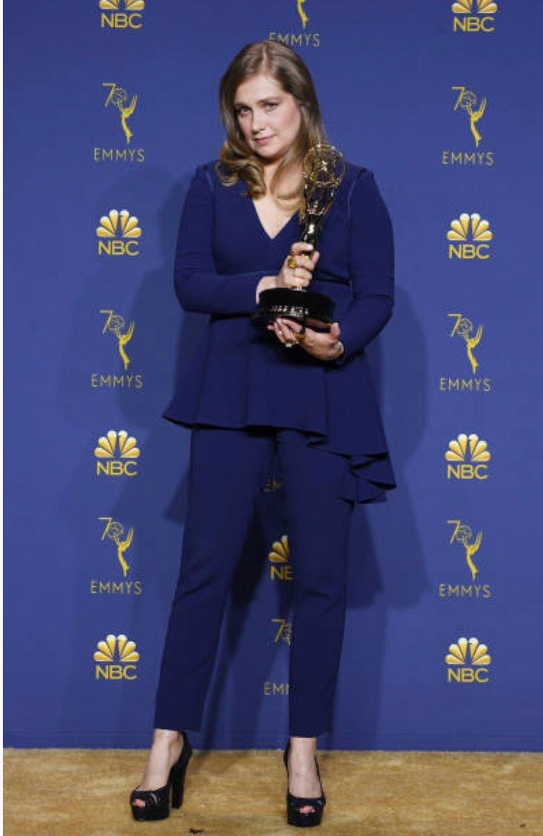 Outstanding Supporting Actress in a Limited Series or Movie Merritt Wever poses in the press room during the 70th Emmy Awards at Microsoft Theater.