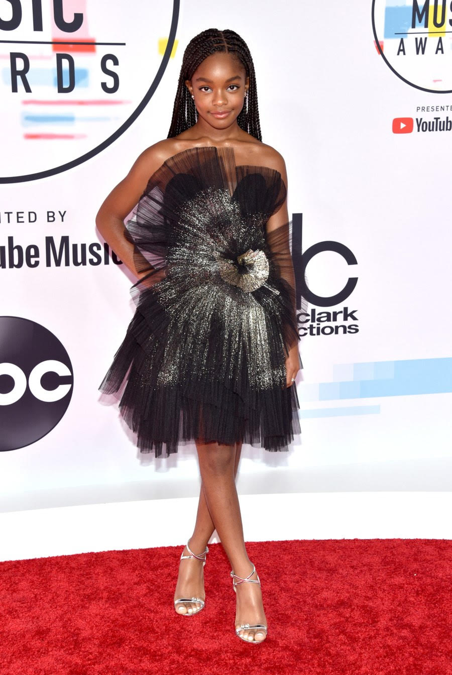 Marsai Martin attends the 2018 American Music Awards