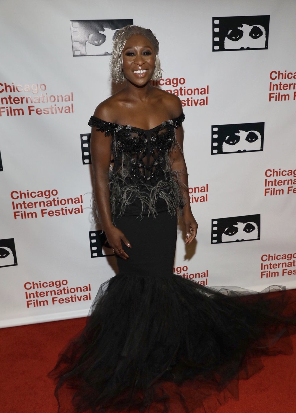 """Cynthia Erivo at the screening of """"Widow"""" at the 54th Chicago International Film Festival."""