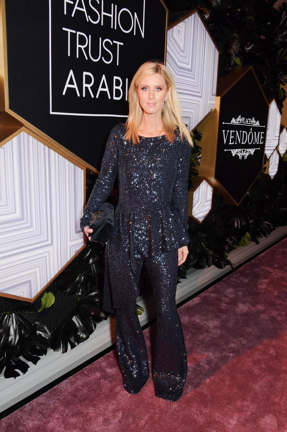Nicky Hilton attends the Fashion Trust Arabia Prize Awards in Doha, Qatar