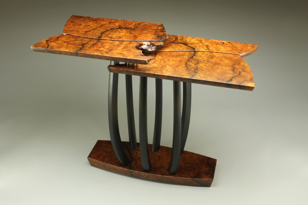 custom fine furniture table redwood and mulberry