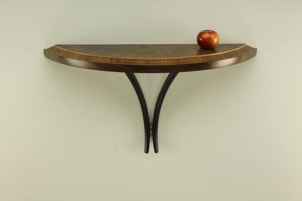 walnut and sycamore custom fine furniture table