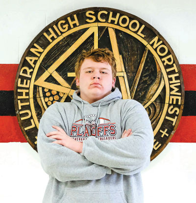 Lutheran Northwest senior Josh Fultz is heading to the individual wrestling state finals March 1-2 at Ford Field. Fultz is the first grappler from Northwest to qualify for states since 2006.      Photo by Deb Jaques