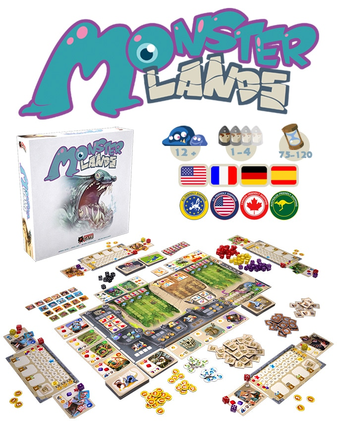 1) Monster Lands - Almost 100 dice, multiple levels of play, solo mode availability, great KS exclusives, and amazing art. I was devastated when I realized I couldn't back this project because I was saving money for Thailand. I know it will be worth it, but this game just looks amazing! I also got to interview the designer on this project.Funding Period: Oct 17 2017 - Nov 15 2017 (29 days)Final Funds: 246,401 pledged of €25,000 goalBackers: 2,756