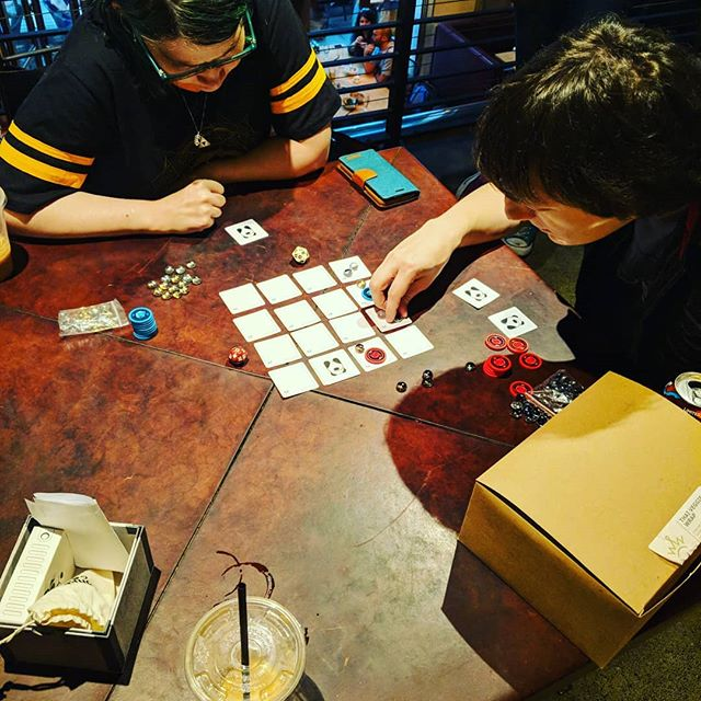 "Play testing new game Project ""deep clean"" with the Seattle Tabletop Game Designers!"