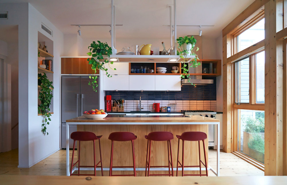 Brooklyn Townhouse Renovation - Kitchen and Kitchen Island