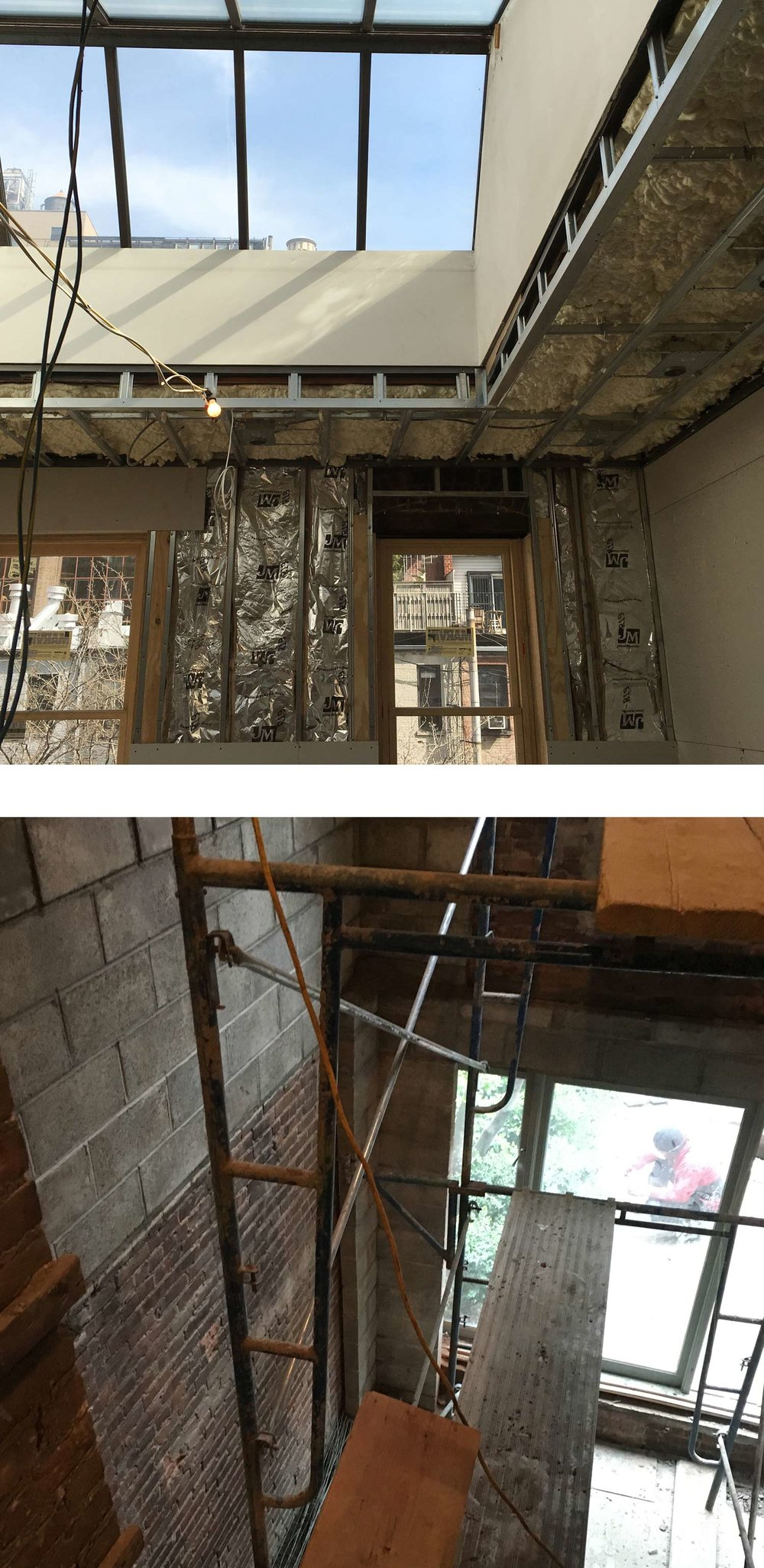 New York Townhouse Renovation - Photos during construction