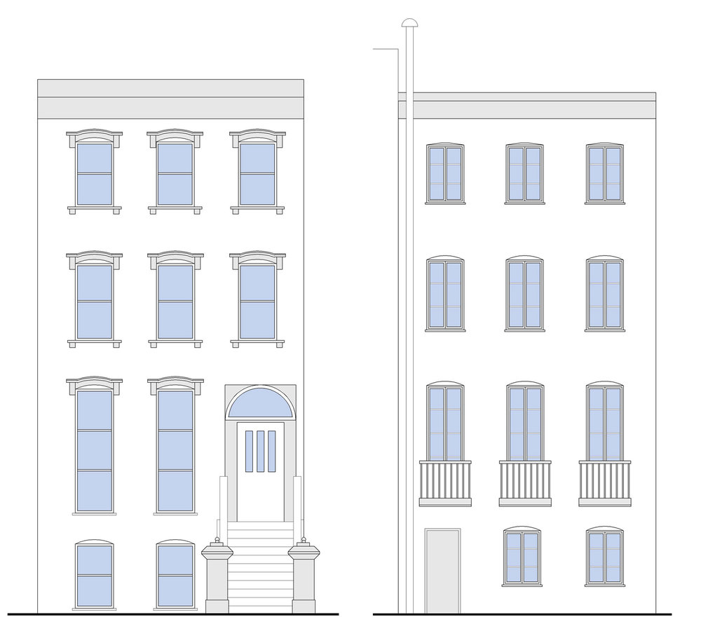 Brooklyn NY Brownstone Renovation - Building Elevations