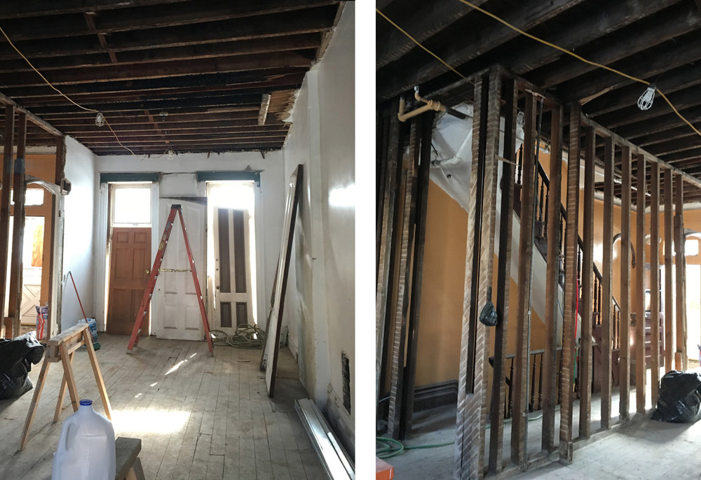 Brooklyn NY Brownstone Renovation - Construction
