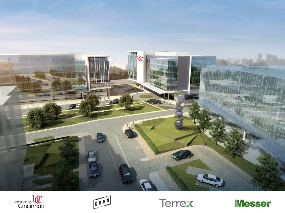 A rendering of the Uptown Gateway development in the Uptown Innovation Corridor.