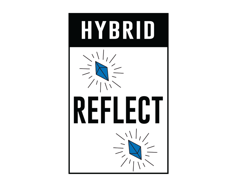 Hybrid: Reflect - (Gorilla Glue) This is one potent hybrid for chasing away the blues. The distinct Gorilla Glue's pungent earthy and piney aroma delivers heavy euphoria for instant relaxation, lifting the spirits while inducing a 'glued-to-the-couch' state. Ideal for a spot of peaceful reflection.