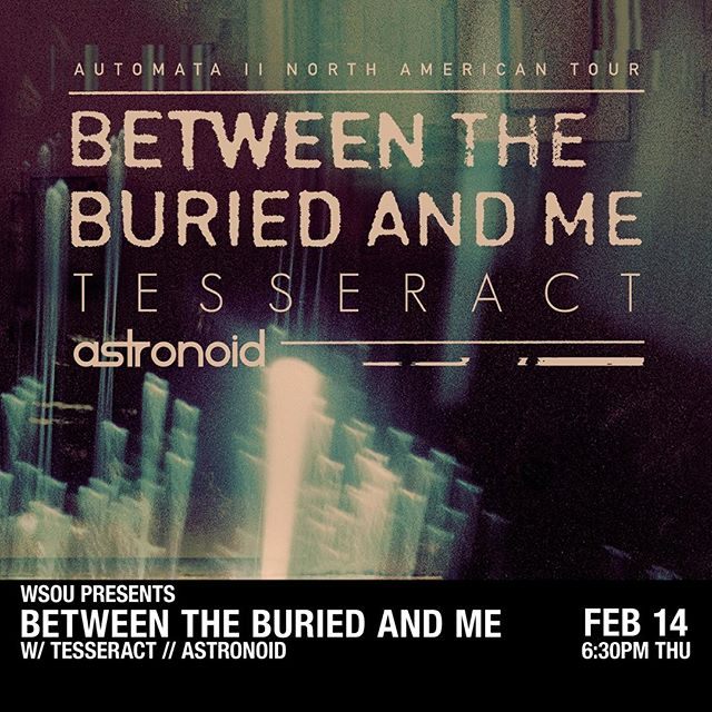 JUST ANNOUNCED: @wsou presents BETWEEN THE BURIED AND ME at the Asbury Lanes on February 14! Tickets go on sale on Friday at 10AM. Be sure to grab yours!
