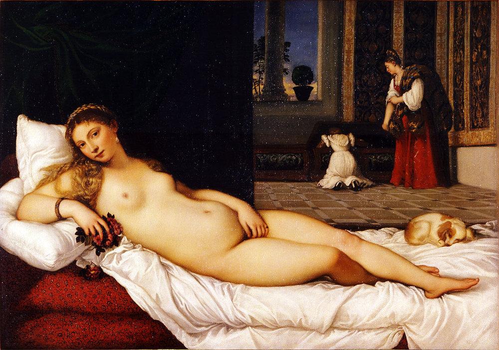 Figure 2: Titian, Venus of Urbino, 1538, oil on canvas, 119.20 x 165.50 cm (Galleria degli Uffizi, Florence)
