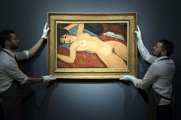 Figure 3: Amedeo Modigliani, Nu couché, 1917, oil on canvas.
