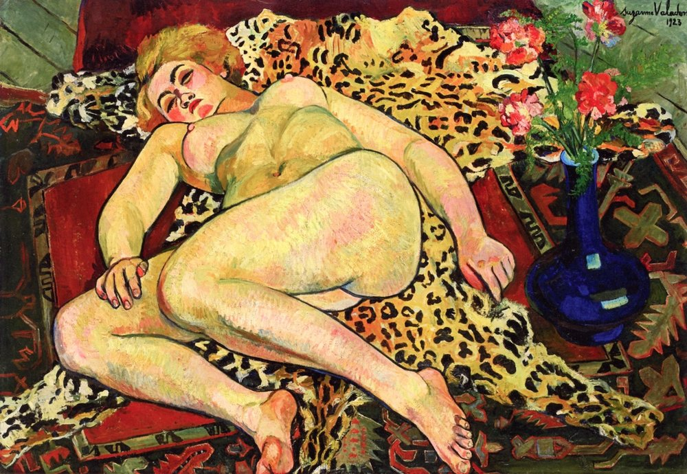 Figure 6: Suzanne Valadon, Reclining Nude on a leopard skin, 1923, oil on canvas.