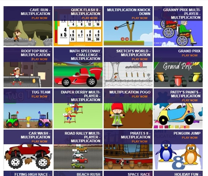 Multiplication Games - A selection of free games for all abilities to test their times table knowledge. Mr Jezzard recommends Granny Prix - Customise her chair and watch her go!