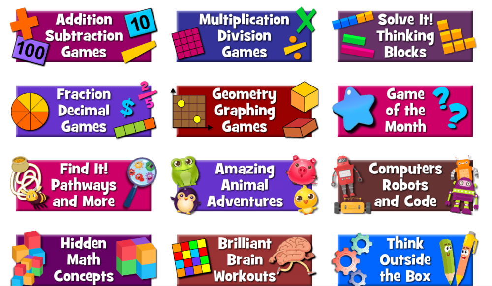 Maths Playground - More games for children to access here at Math playground. Problem solving, reasoning, arithmetic as well as shape, space and measure games can be found here.