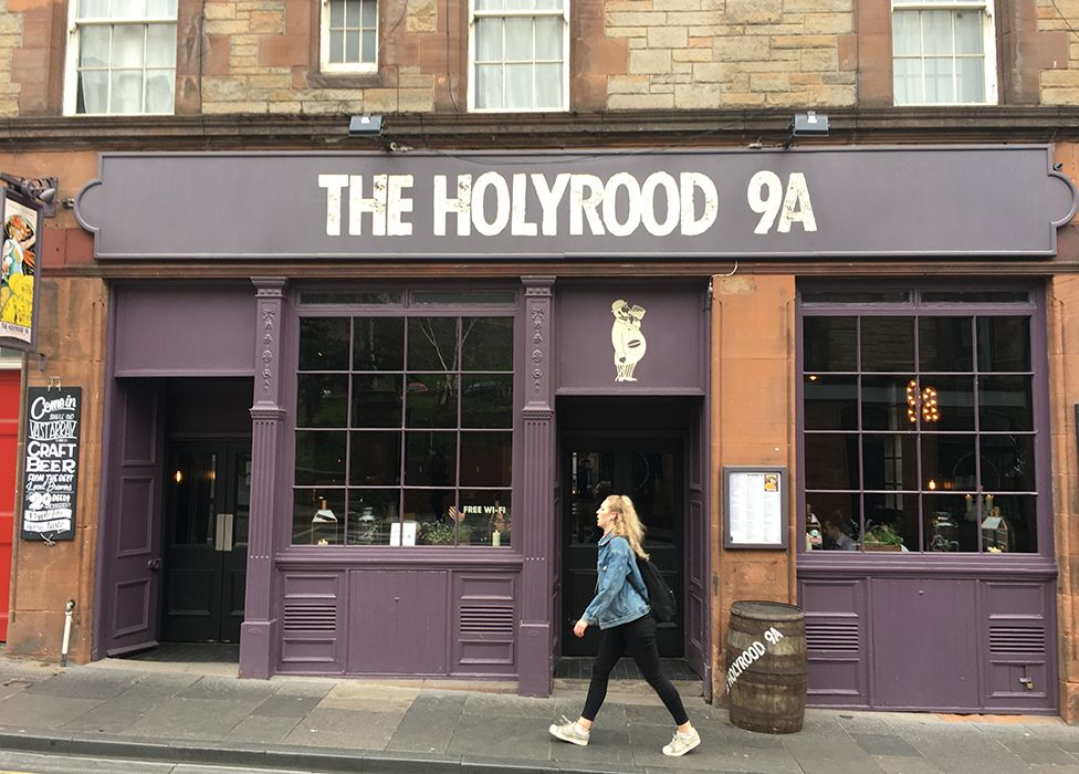 The Holyrood 9A in Edinburgh, which had an awesome halloumi sandwich and was just around the corner from our AirBNB. | photo via  BBC