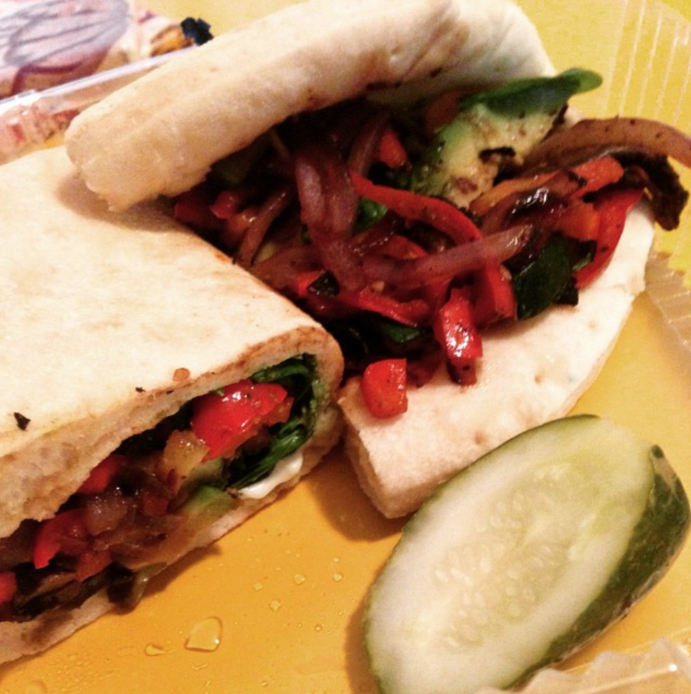Grilled Veggie Sandwich with avocado added